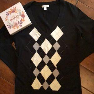 NY&Co argyle Sweater